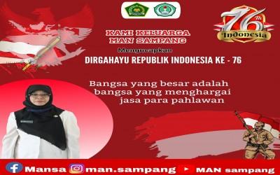 Dirgahayu Kemerdekaan Republik Indonesia Ke-76