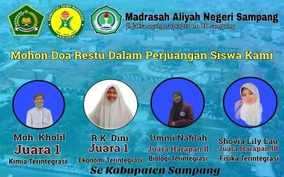 Selamat Bagi Siswa-siswi MAN Sampang, telah menjuarai KSM Tingkat Kabupaten 2021